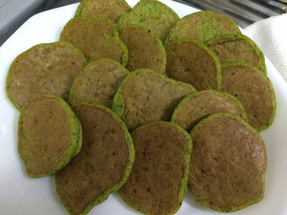 かぼちゃ小松菜しらすのパンケーキ